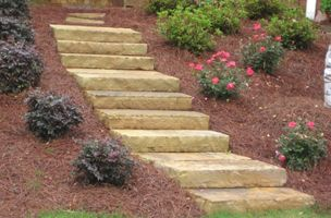 North Georgia Stone Step Treads